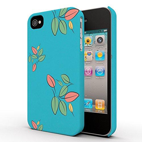 Koveru Back Cover Case for Apple iPhone 4/4S - Leaf Floral