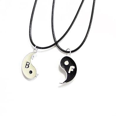 Best Friends Puzzle de cristal de mejor amiga TrendsMe/diseño de letras/Yin Yang