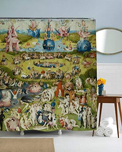 (Art Shower Curtain, Bosch, Classic Art Bathroom Curtain, Surrealist Art, Famous Art Decor, Oil Painting, Medieval Decor, Garden, Circus 71