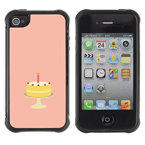 Apple iPhone 4 / iPhone 4S ( Birthday Cake Sugar Sweets Candy Art )