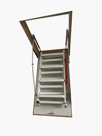 120 x 60 Escalera de ático – Acero Lux suelo Escaleras: Amazon.es: Bricolaje y herramientas