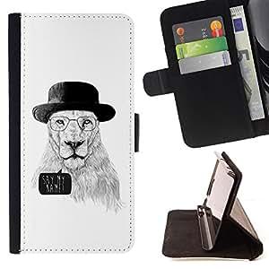 - Funny Meth Cook Lion - - Prima caja de la PU billetera de cuero con ranuras para tarjetas, efectivo desmontable correa para l Funny HouseFOR Sony Xperia Z3 D6603