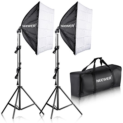 Neewer 700W Professional Photography 24×24 inches/60×60 Centimeters Softbox with E27 Socket Light Lighting Kit