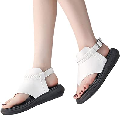 06c6d3eb1edaf Amazon.com: DOMUMY Black Sandals, Summer Women' Shoes Open-Toe ...