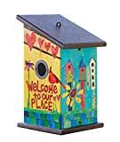 Studio M PP412 Designer Birdhouse Functional Outdoor Décor, 7 x 12.25-Inches, Welcome to Our Place