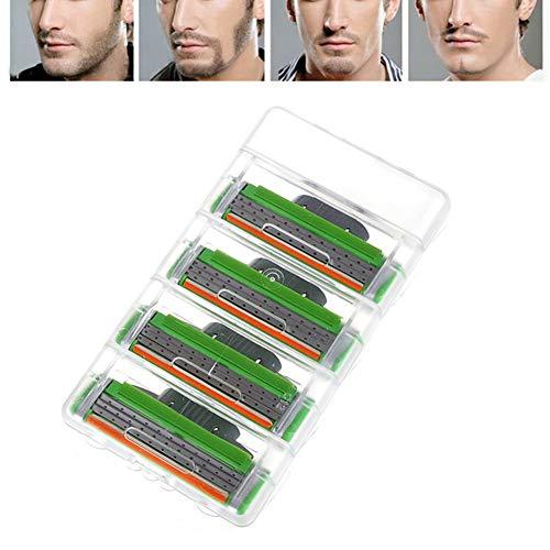 Kekailu 4Pcs 3 Layers Sharp Replacement Blades Manual Razor Body Hair Shaving Accessory Green