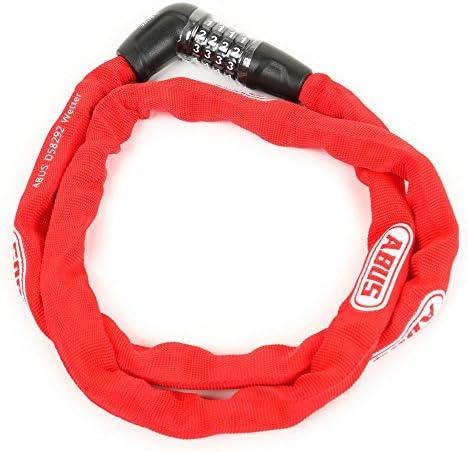 アブス(アブス) 5805COMBO/110 チェーンロック ダイヤル式 自転車 鍵 85-3603097306 RED (レッド/FF)