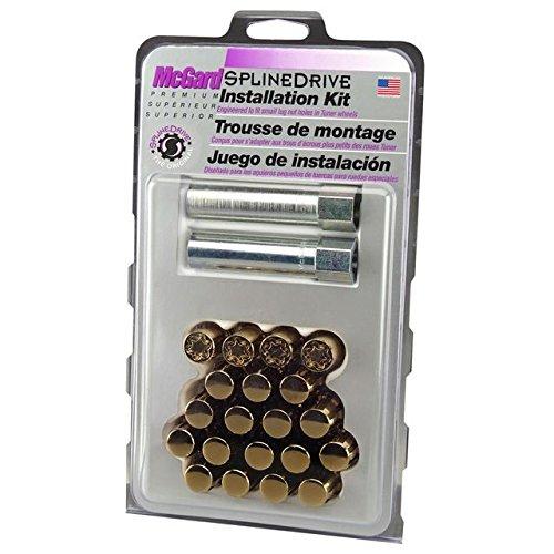 McGard 65554GDC Chrome/Gold SplineDrive Wheel Installation Kit (M12 x 1.25 Thread Size) - For 5 Lug Wheels
