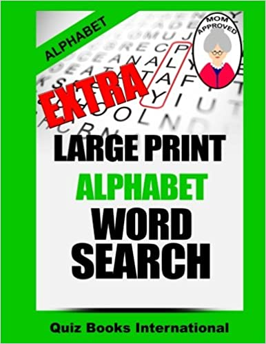 Extra Large Print Alphabet Word Search