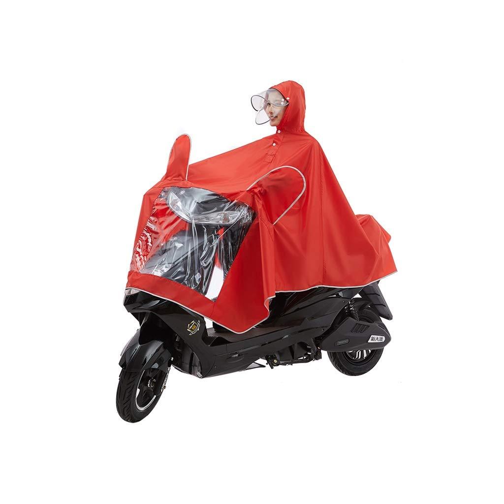 rouge XXXXL LXRZLS Imperméable de Cyclisme - Multifonctionnel - Poncho imperméable - pour la Course à Pied, électrique, Moto - Unisexe (Couleur   rouge, Taille   XXXL)