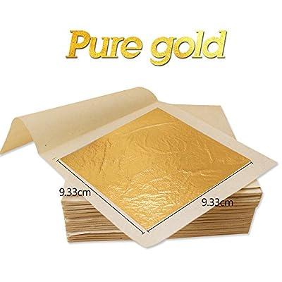 10 Sheets 9.33 X 9.33cm 24K Pure Genuine Facial Edible Gold Leaf Gilding Foil