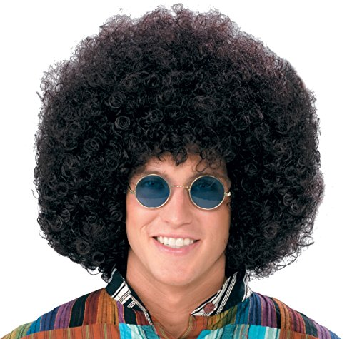 Forum Novelties Wig-Jumbo Hippie Fro-black, black ()