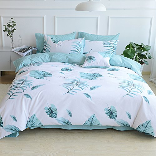 TheFit Paisley Textile Bedding for Adult U1817 Beach and Tropical Duvet Cover Set 100% Tencel, Queen King Set, 4 Pieces (Euro Tropical Comforter)