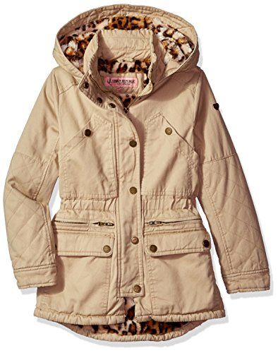 Urban Republic Big Girls' Ur Cotton Twill Jacket, Khaki 5809AK, 16 (Jacket Twill Casual Cotton)