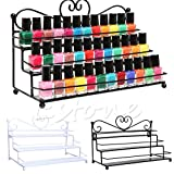 GreenSun(TM) Nail Polish Organizer Table Top 3 Tier Display Rack Storage Design Holder Metal A17170