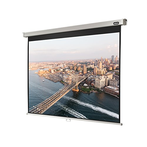 celexon 89'' Manual Professional Plus pull down projection screen, 71 x 53 inches viewing area, 4:3 format, Wall or ceiling mounting, Gain 1.2 by Celexon