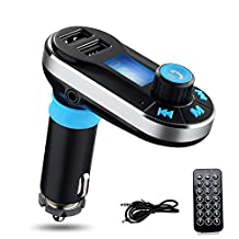 Mondpalast Bluetooth Wireless 3.5mm Line-in LED Car MP3 Player FM Transmitter With Dual USB Car Charger Universal for portable devices / smartphone with bluetooth Iphone 6S 6S plus 6 5 5S 5C Ipad Mini 2 3 4 5 Samsung Galaxy note 5 S6 edge + S4 S5 HTC M9 M8 M7 Sony Z5 M5 C5 Z1 Z2 Z3 LG G4