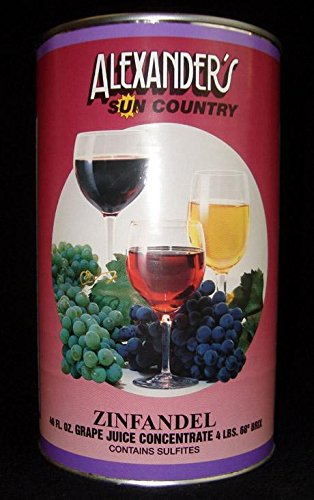 Alexanders Sun Country Wine Grape Concentrate- Red Zinfandel 46 oz -