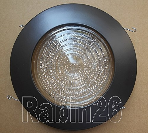 "6"" Inch Recessed Can BROWN BRONZE Shower Trim with Clear Fre"