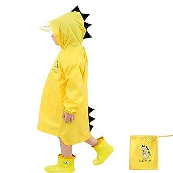 Enbihouse Kids Regenmantel Kinder Regenjacke Regen Regenponcho Regencape Regenbekleidung Cute Unisex Regenjacke Regen Slicker