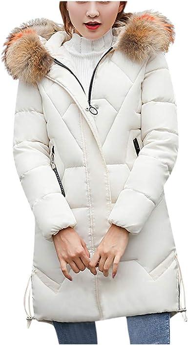 Femme Manteau Hiver Longue Ultra Légère Doudoune à Capuche