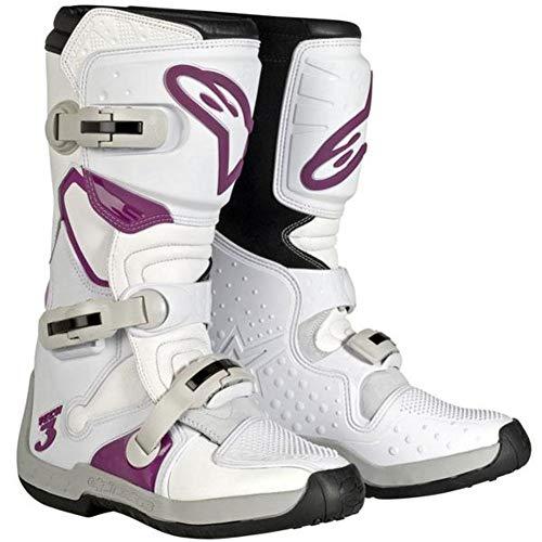 Alpinestars Women's Stella Tech-3 Boots (9) (WHITE/VIOLET) ()