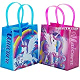 Unicorn 12 Premium Quality Small Reusable Goodie Bags 6''
