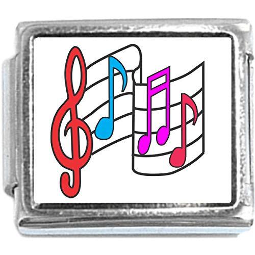 Music Notes Italian Charm