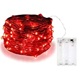 BOLWEO Battery Powered Fairy String Lights,10ft/3M 30LEDs,Red Ambiance Lighting for Party Wedding Holiday Christmas New Year's Eve Decoration