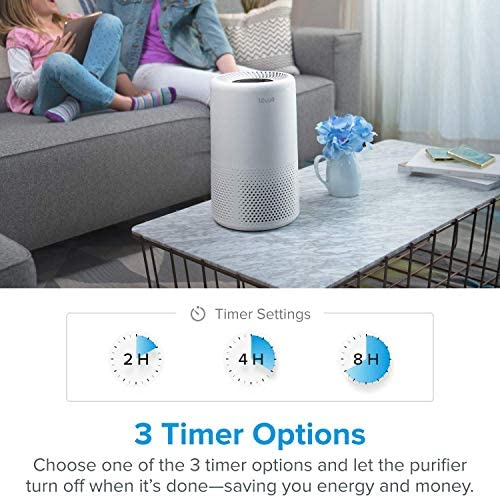 LEVOIT Air Purifiers for Home Allergies and Pets Hair, H13 True HEPA Air Purifier Filter, Quiet Filtration System in Bedroom, Removes Smoke Odor Dust Mold, Night Light & Timer, Vista 200