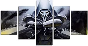 AtfArt 5 Piece Reaper Canvas Painting for Living Room Home Decor Canvas Art Wall Poster (No Frame) Unframed Mr-08
