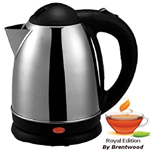 Royal 1.5 Liter Stainless Steel Cordless Electric Hot Water Tea Kettle - Boil Water Fast & Easy!