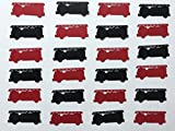 Fire Truck Confetti - Red and Black Fire Truck Confetti - Fireman Birthday Party - Fireman Decorations - Little Boy Birthday - Fireman Baby Shower - Fireman Retirement Party - 200 pieces