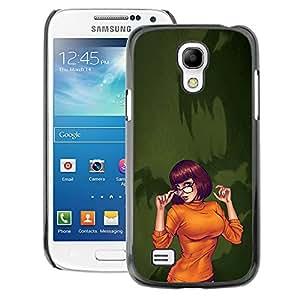 A-type Arte & diseño plástico duro Fundas Cover Cubre Hard Case Cover para Samsung Galaxy S4 Mini i9190 (NOT S4) (Sexy Orange Halloween Character Cartoon)