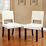 Linon Vega Dining Chairs, White
