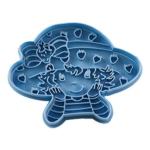 Cuticuter Charlotte Face Strawberry Shortcake Cookie Cutter, Blue ()