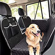 #LightningDeal Pecute Dog Seat Cover Car Seat Cover for Pets 100% Waterproof Pet Seat Cover Hammock 600D Heavy Duty Scratch Proof Nonslip Durable Soft Pet Back Seat Covers for Cars Trucks and SUVs