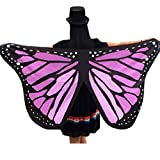 57inch x 25inch Butterfly Wings, Kemilove Soft Butterfly Wings Adult Costume Accessory (Purple)