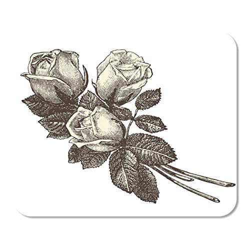 Suike Mousepad Computer Notepad Office Roses Vintage Engraved La Mode Illustr¨¦e by Firmin Didot Home School Game Player Computer Worker 9.5x7.9 Inch