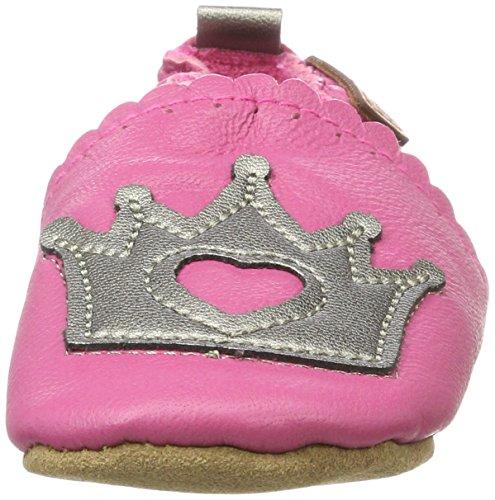 Melton Baby Mädchen Krabbelschuh Krone aus Weichem Leder, Mehrfarbig (Rose Bon), 26/27 EU