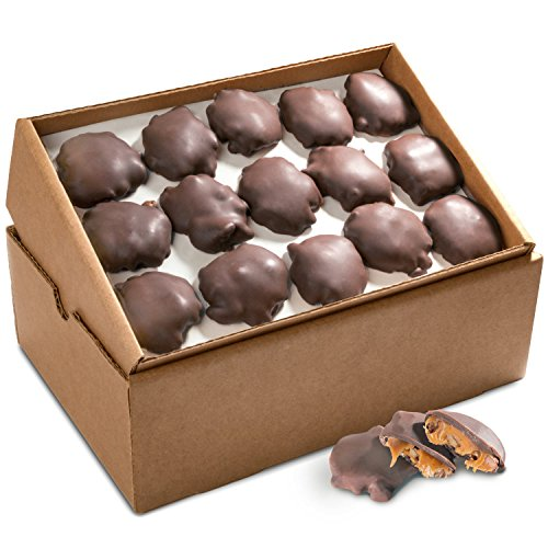 Golden State Fruit Bulk Pecan Clusters, Dark Chocolate Caramel, 5 Pound