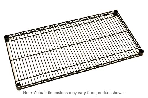 "Metro 1448NBL Super Erecta Steel Wire Shelf, 800 lb. Capacity, 1"" Height x 48"" Width x 14"" Depth, Black (Pack of 4)"