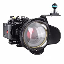 EACHSHOT 40M/130f Underwater Waterproof Camera Housing Diving Case for Sony DSC RX100 IV RX100 M4 + Red Filter 67mm + 67mm Fisheye Lens + Aluminium Diving handle