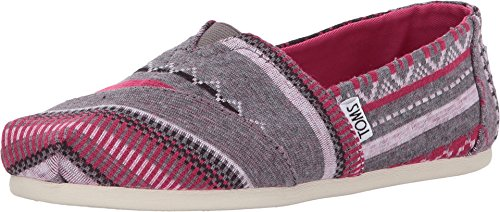 TOMS - Women Slip-On Shoes, Size: 5.5 B(M) US, Color: Fuschia Tribal -