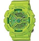 Casio G-Shock Green Dial Green Resin Multi Quartz Ladies Watch GMAS110CC-3A