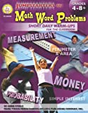 Pstarters for Math Word Problems, Grades 4 - 8, Anne Steele, 158037400X