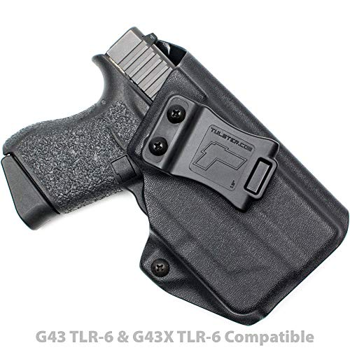 Tulster Glock 43/43X w/TLR-6 Holster IWB Profile Holster (Black - Right Hand) (Best Glock 43 Iwb Holster)