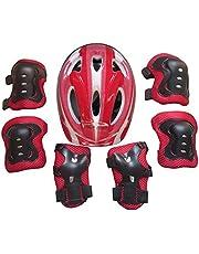 Batop Kinder Protektoren Set, 7Pcs Kind Junior Knieschoner Schutzausrüstung Helm Handgelenkschoner für Kinder Skateboard Inline Roller Skate Outdoor Sport Pad Set