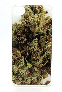 OG Kush Weed Marijuana Sour Diesel - iPhone 4 4S Snap On Case Clear Plastic Rasta Reggae