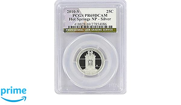 2010 S Silver Proof Hot Springs Quarter America The Beautiful